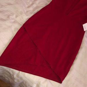 Tobi Dresses - Tobi Red Plunge Dress
